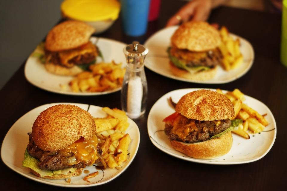 Hamburger, Food, Gourmet, French Fries, Beef, Grilled
