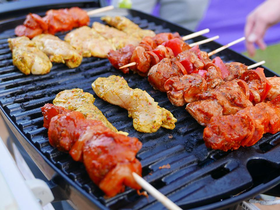Grilled, Chicken, Barbecue, Food, Meat, Grill, Bbq