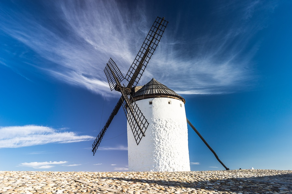 Mill, Wind, Grind, Tourist, Tourism, Windmill