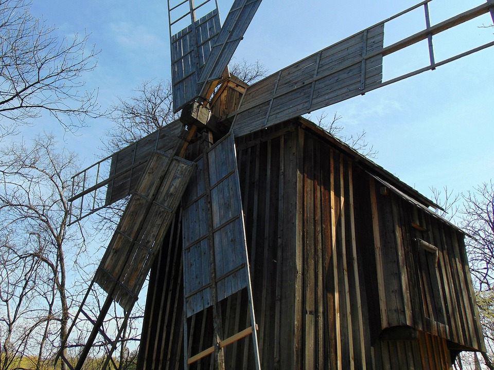 Windmill, Mill, Old, Grind
