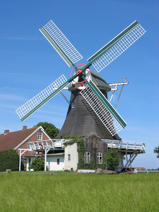 Windmill, North Sea, Building, Grind, Flour Mill, Mill
