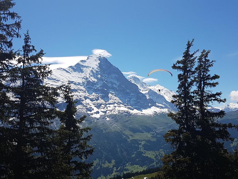 Paragliding, Eiger North Face, Grindelwald