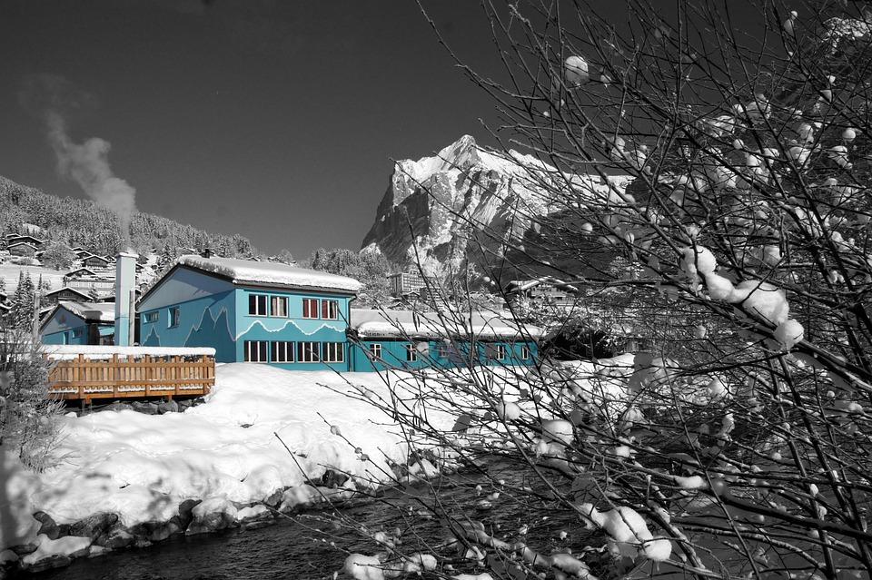 Winter, Grindelwald, North Wall, Switzerland, Wintry