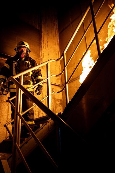 Flame, Light, Dark, People, Steel, Grinder, Stairs