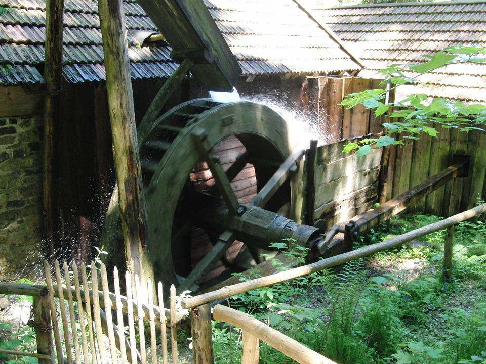 Waterwheel, Grinding Mill, Water Mill, Forest, Gout