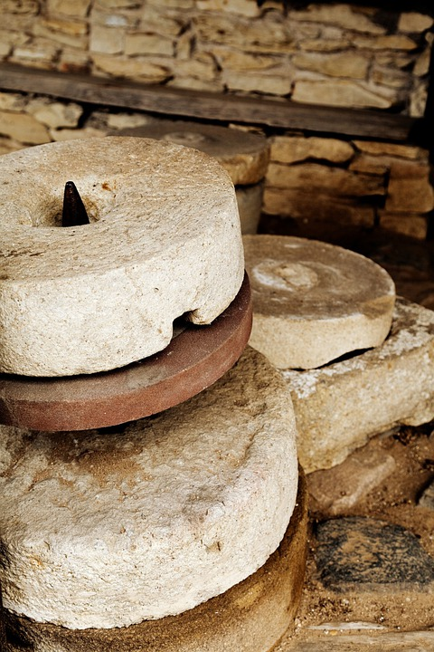 Millstone, Mill, Old, Stone, Ancient, Grinding, Round