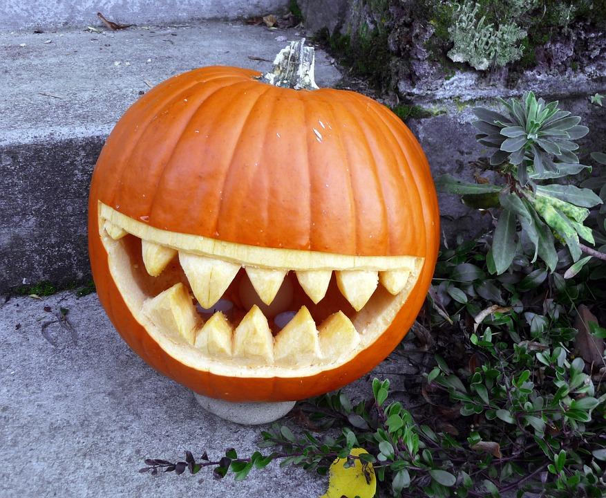 Pumpkin, Grin, Grinning, Halloween, Orange, Autumn