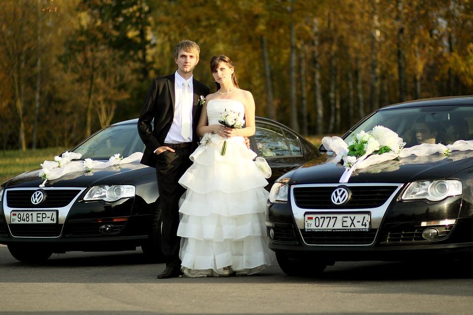 Couple, Bride, Wedding, Groom, Love, Marriage, Cars