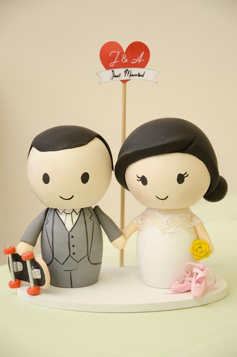Top Of Cake, Dolls, Marriage, Grooms, Bride