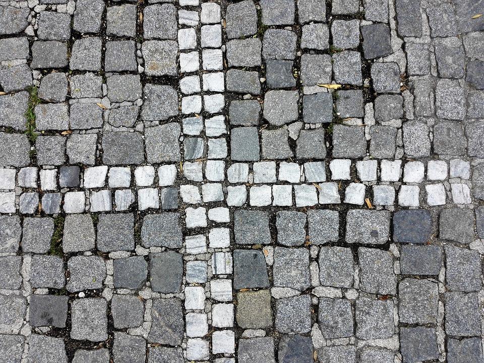 Stones, Paving Stones, Ground, Cross, Pavement, Pattern