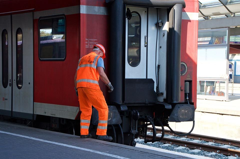 Ground Worker, Station, Wagon, Train Ride, Railway