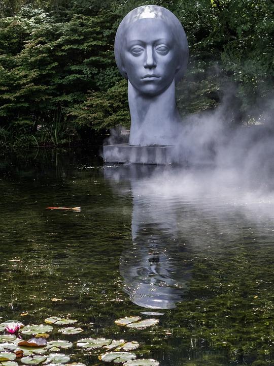 Usa, Nj, Grounds For Sculpture, Leucantha, Artwork