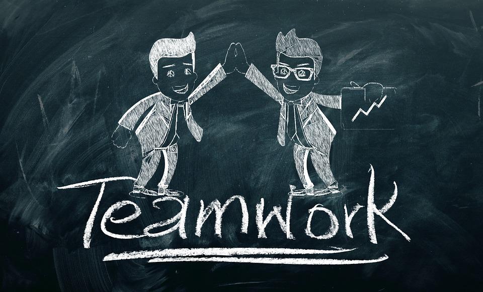 Teamwork, Team, Success, Board, Chalk, Personal, Group
