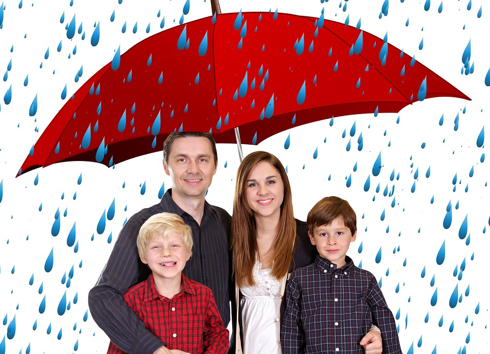 Family, Umbrella, Human, Bless You, Security, Group