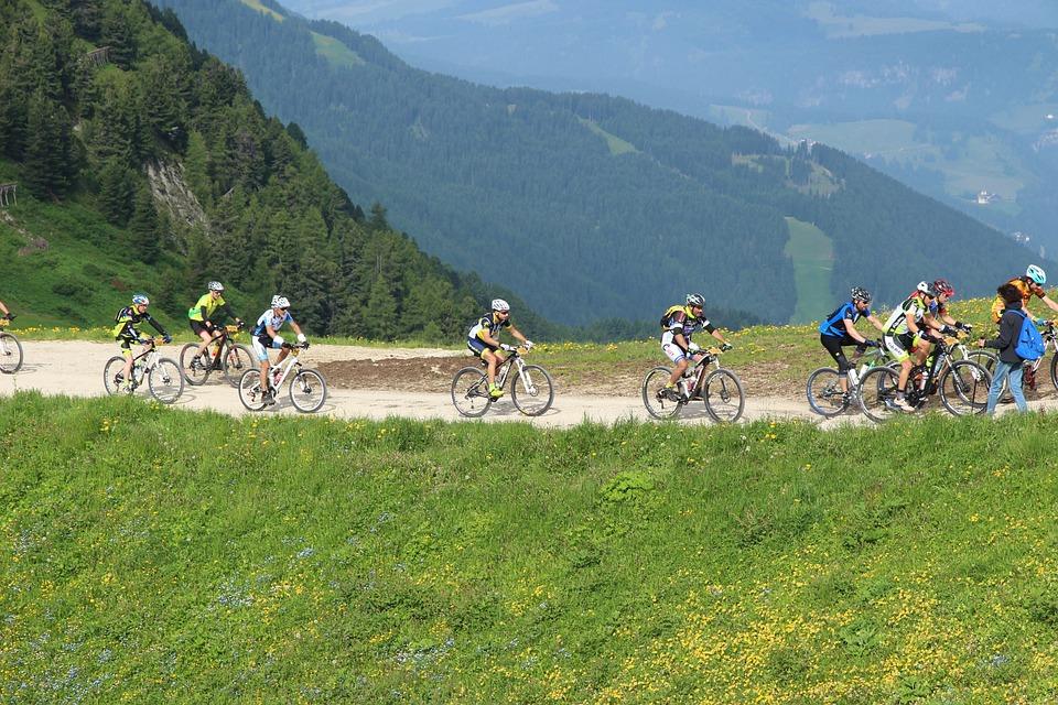 Bike, Mountain, Fun, Ride, Mtb, Group, People, Sport