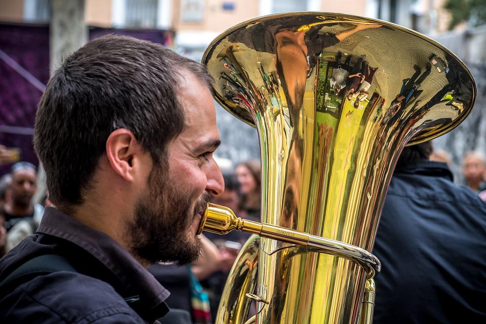 Musician, Street, Trombone, Orchestra, Group, Soloist