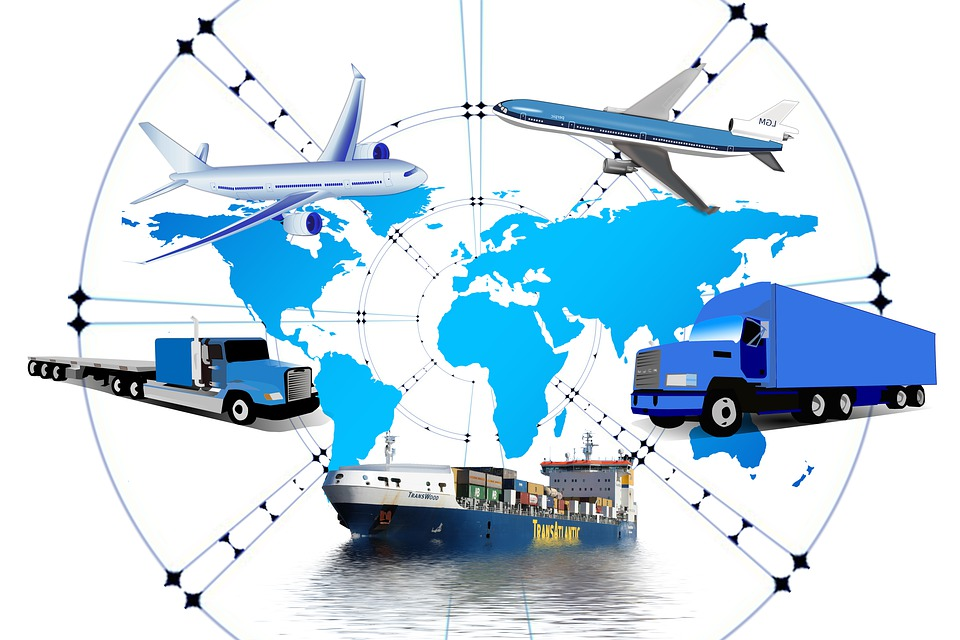 Logistics, Truck, Frachtschiff, Group, Transmission