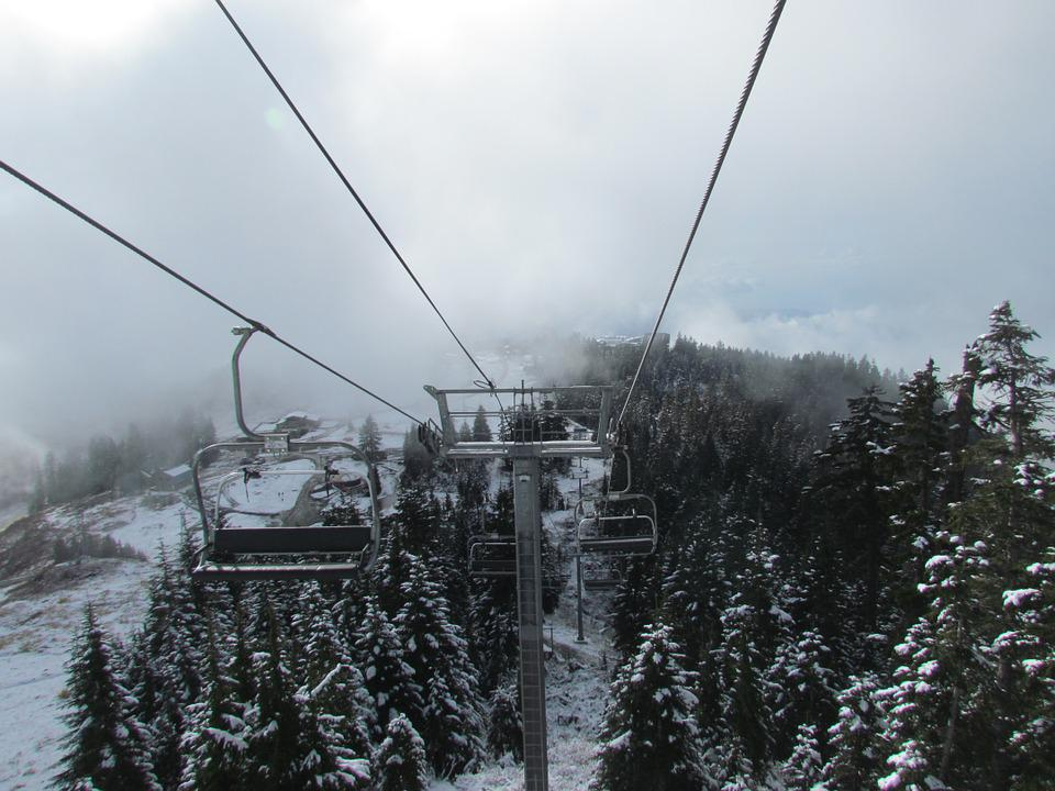 Grouse Mountain, Canada, Vancouver, Snow, Mountain