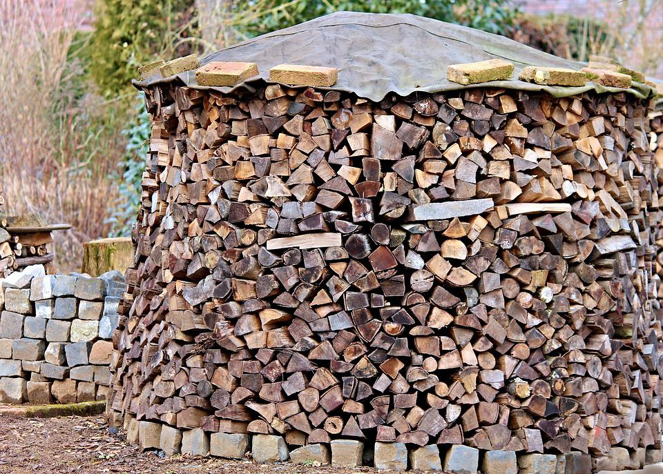 Firewood, Holzstapel, Wood, Growing Stock, Timber
