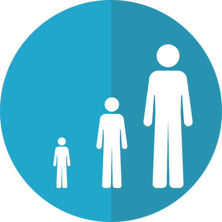 Life Stage Icon, Growth Icon, Aging Icon, Aging