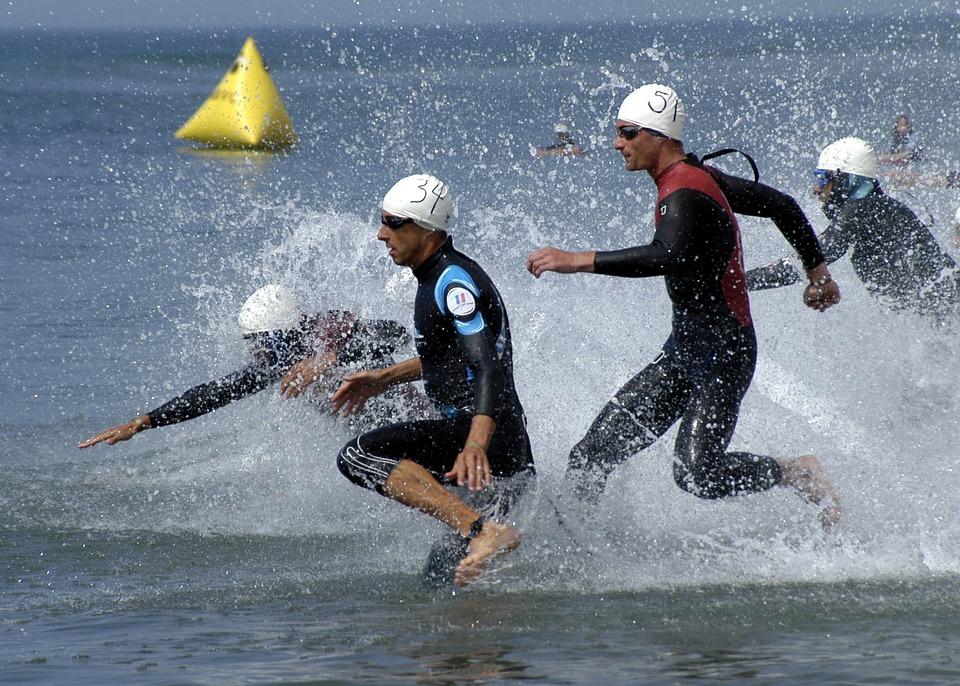 Triathlon, Swimming Phase, Grueling, Sea, Ocean, Water