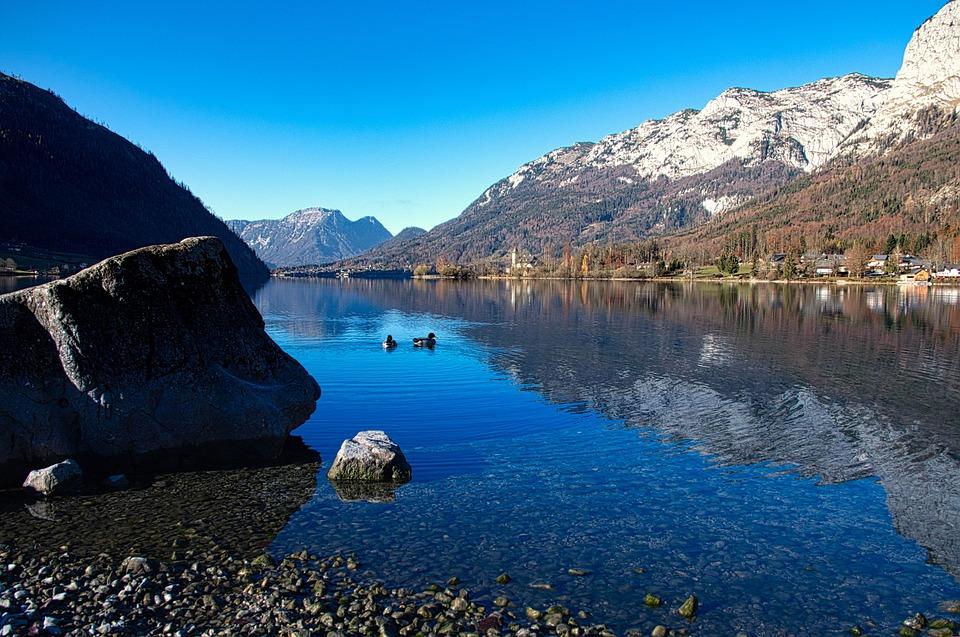 Grundlsee, Sky, Stone, Blue, Wanderurlaub, Beauty