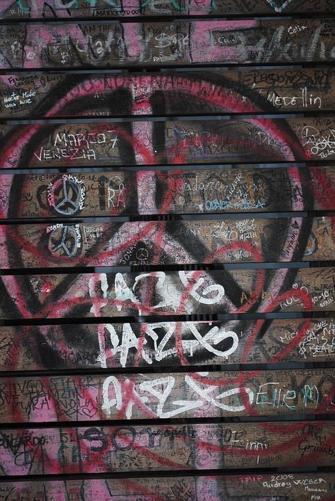 Graffiti, Peace, Sign, Symbol, Design, Grunge, Paint