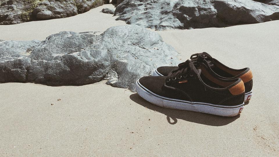Sneakers, Shoes, Sea, Sand, Beach, Grunge, Sandy