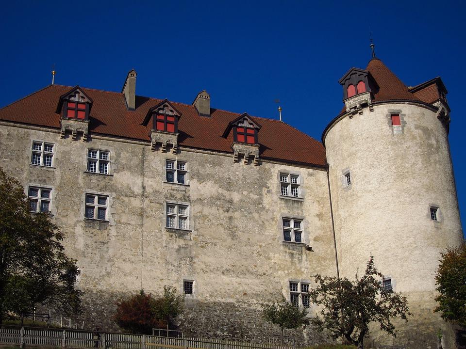 Gruyere Castle, Switzerland, Castle Wall, Tower