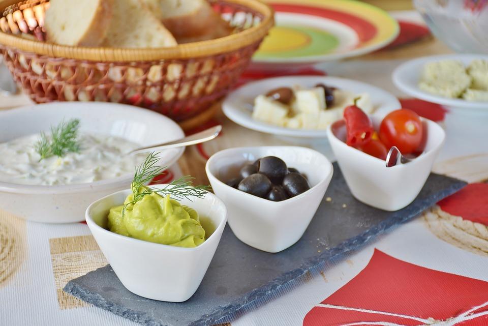 Antipasti, Tomatoes, Guacomole, Olives, Avocado