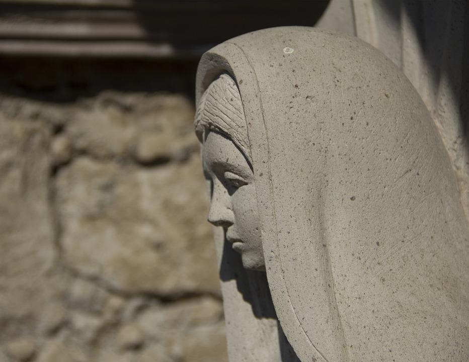 Religious Icon, Guadalupe, Sculpture