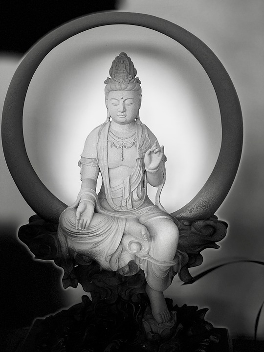 Black And White, Guanyin, Serenity, Mercy