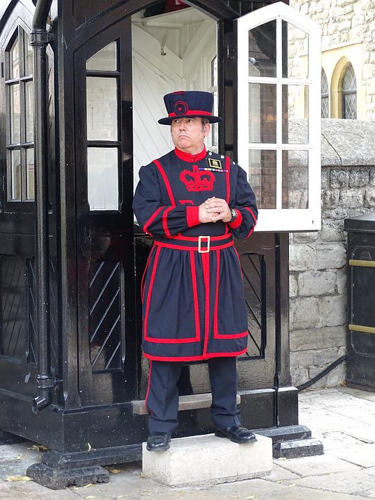 England, London, Tower, Uk, Guard
