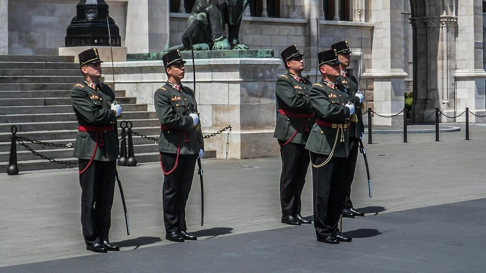 Hungary, Budapest, Parliament, Guard, Army, Soldiers