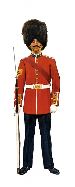 Soldier, Grenadier, Guard, Canadian, Vintage, Isolated