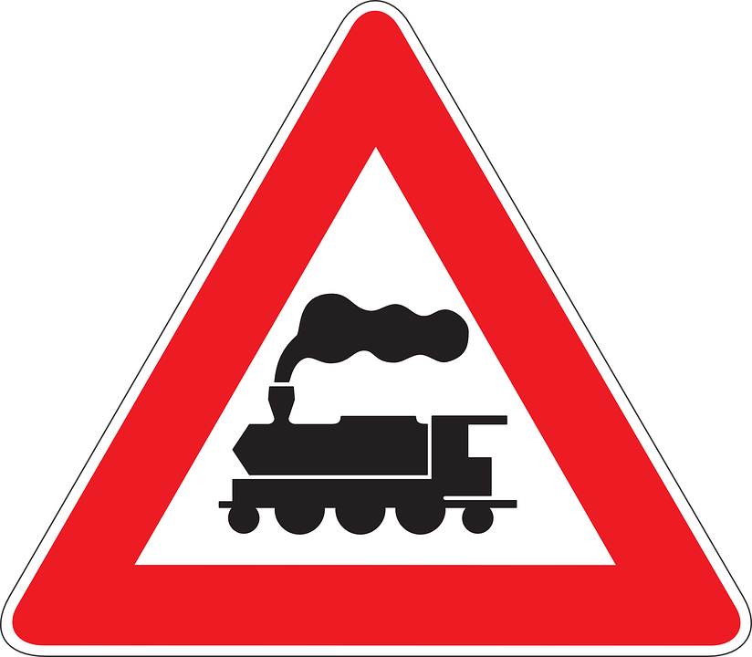 Train, Warning, Crossing, Guarded, Drive, Car, Safety