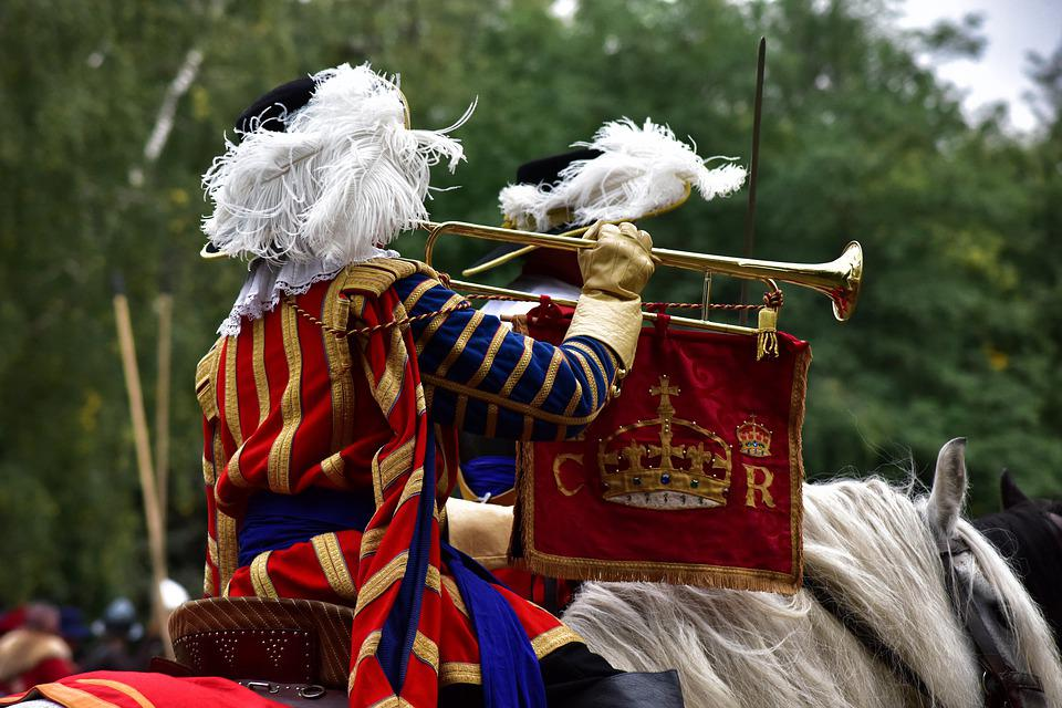 Musketeer, Guardsman, England, Crown, Red