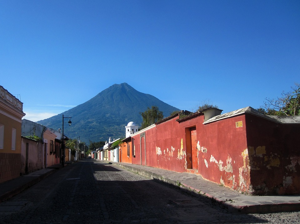 Antigua, Guatemala, America, Central, Latin, Street