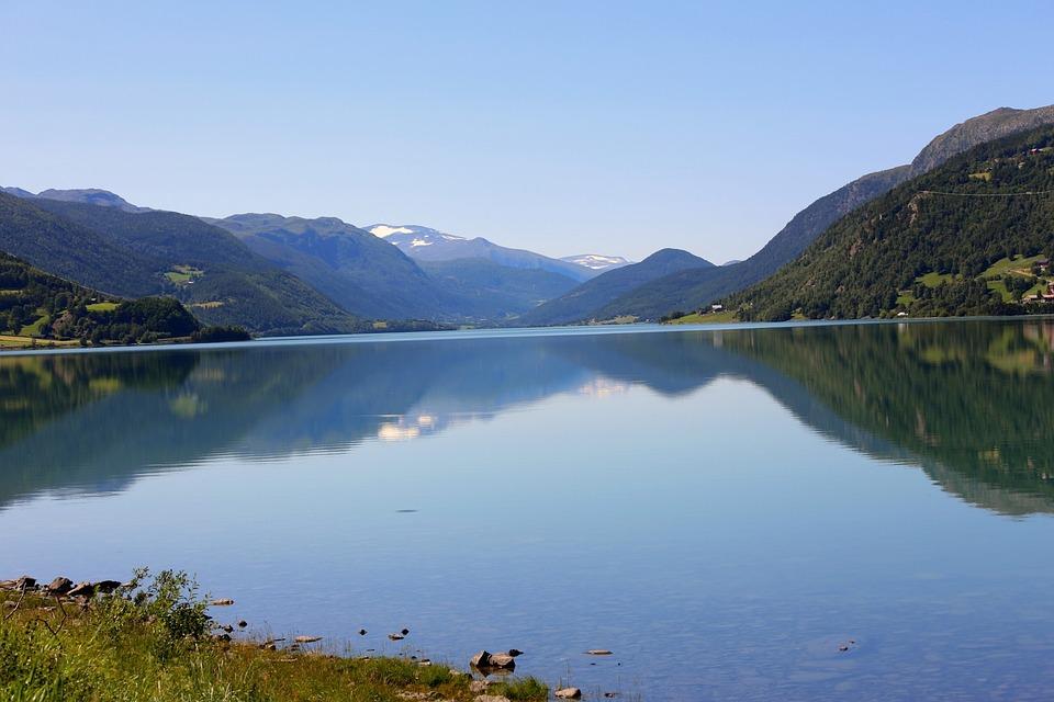 Norway, Oppland, Gudbrandsdal, Lake, Water, Landscape
