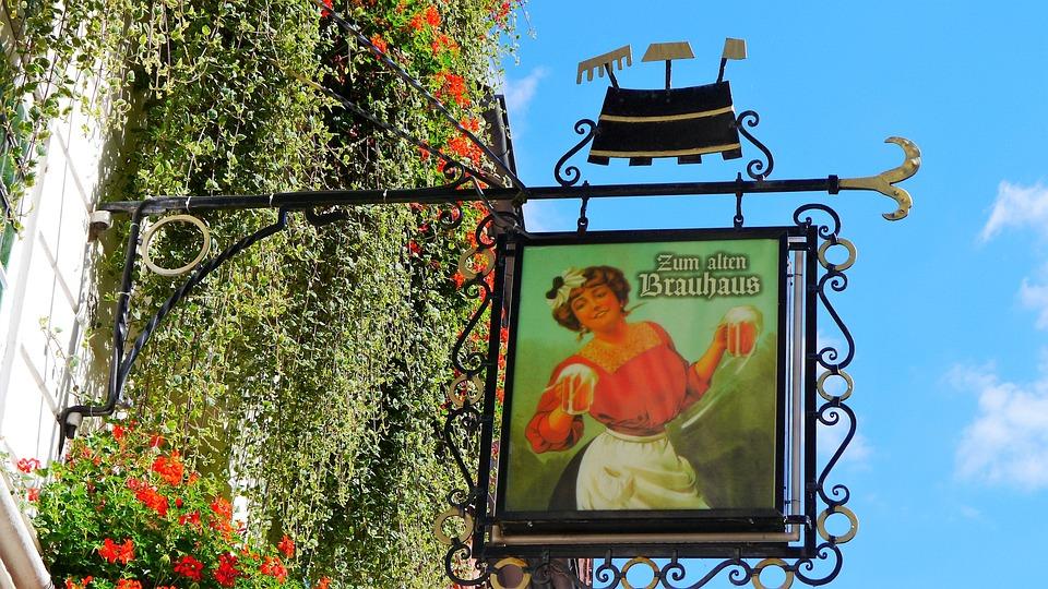 Lüneburg, Shield, Guild, Advertising Sign, Old