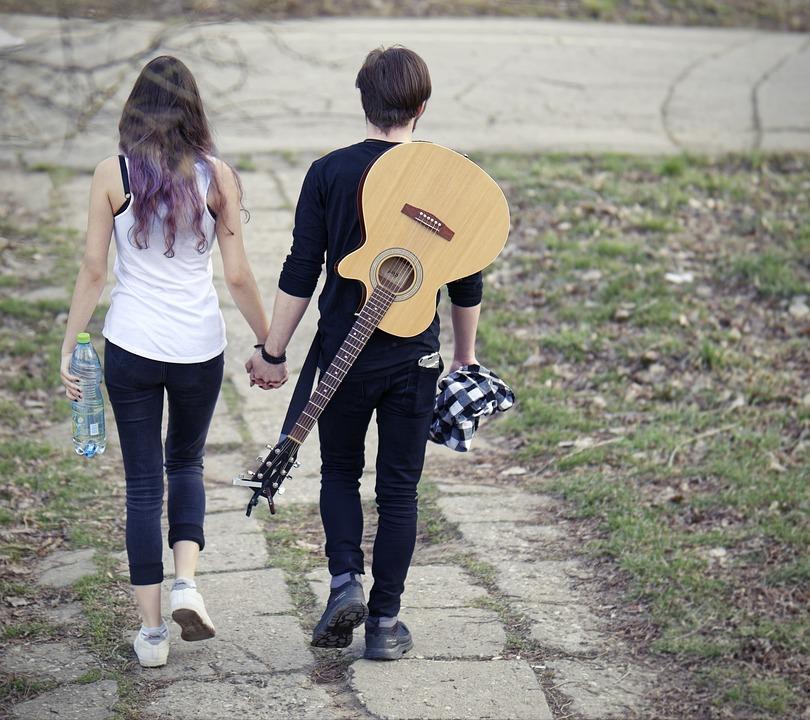 Couple, Boy, Girl, Romance, Together, Romantic, Guitar