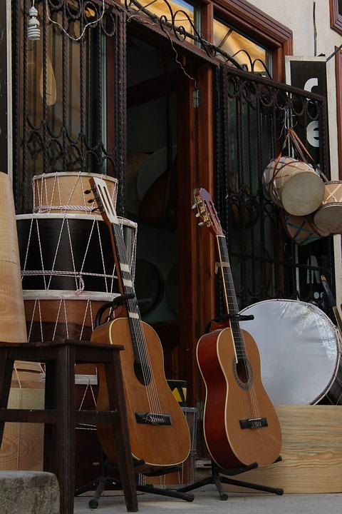 Guitar, Drum, Shop
