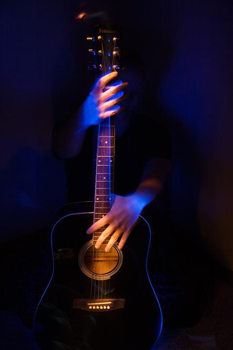 Music, Guitar, Instrument, Light, Painting