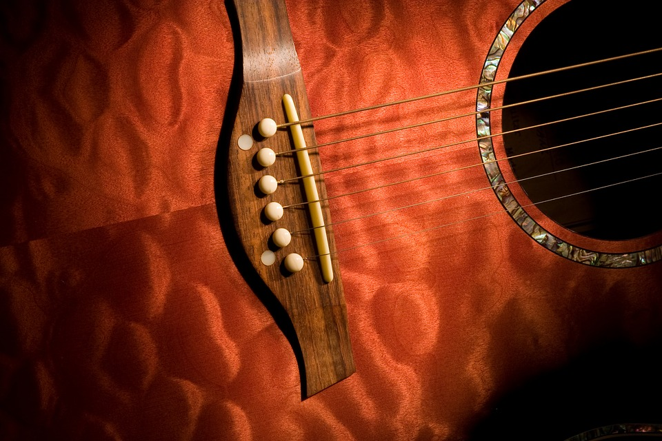 Guitar, Strings, Mother Of Pearl, Inlay, Wood, Music