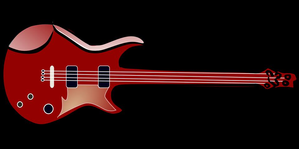 Guitar, Musical, Instrument, Popular, Red, Brown