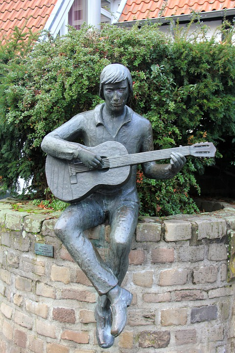Guitar, Music, Musician, Sculpture