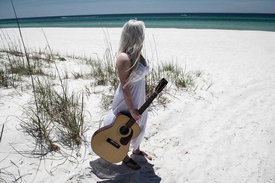 Woman, Guitar, Guitarist, Musician, Young, Female