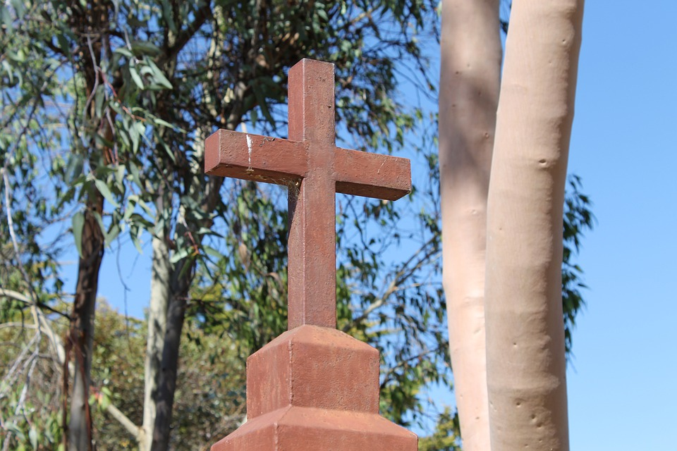 Gumtrees, Church, Australia, Cross, Religious, Wooden