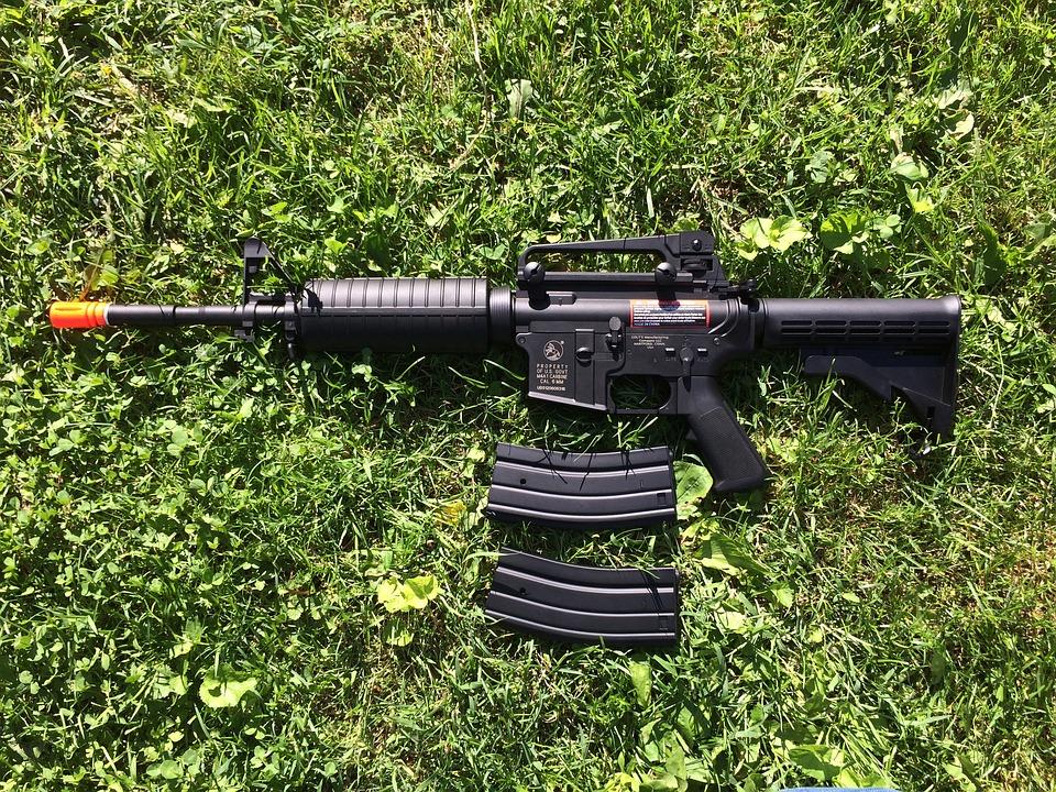 Gun, Rifle, Weapon, Black