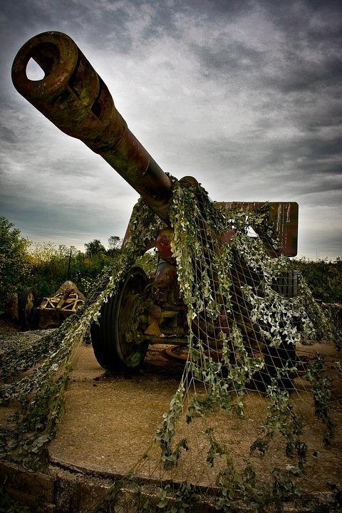 Gun, War, Normandy, France, Trenches, Battle